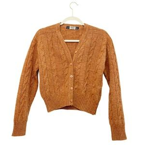 Trafaluc Knitwear Orange Wool Sweater M